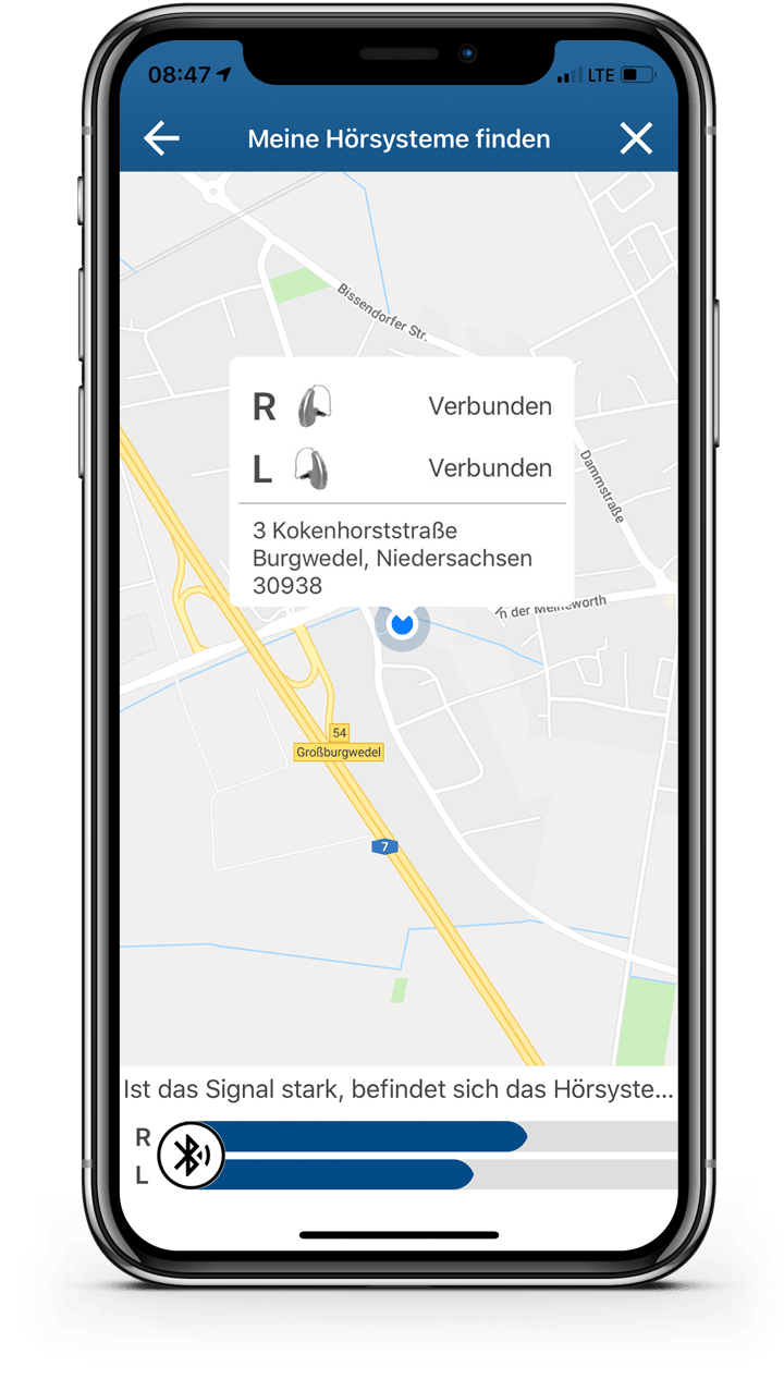 KINDvitalo App Hoergeraete-Finder